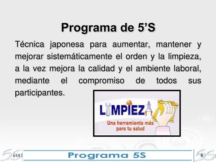 Programa de 5'S