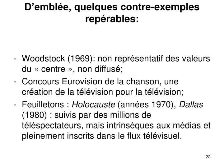 Demble, quelques contre-exemples reprables: