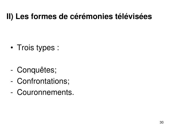 II) Les formes de crmonies tlvises