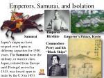 emperors samurai and isolation