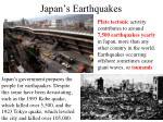japan s earthquakes