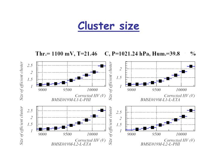 Cluster size