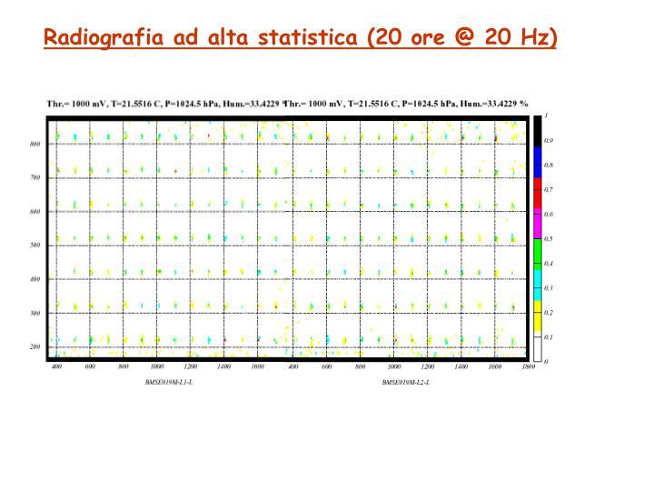 Radiografia ad alta statistica (20 ore @ 20 Hz)