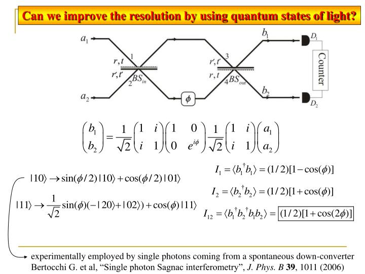 Can we improve the resolution by using quantum states of light?