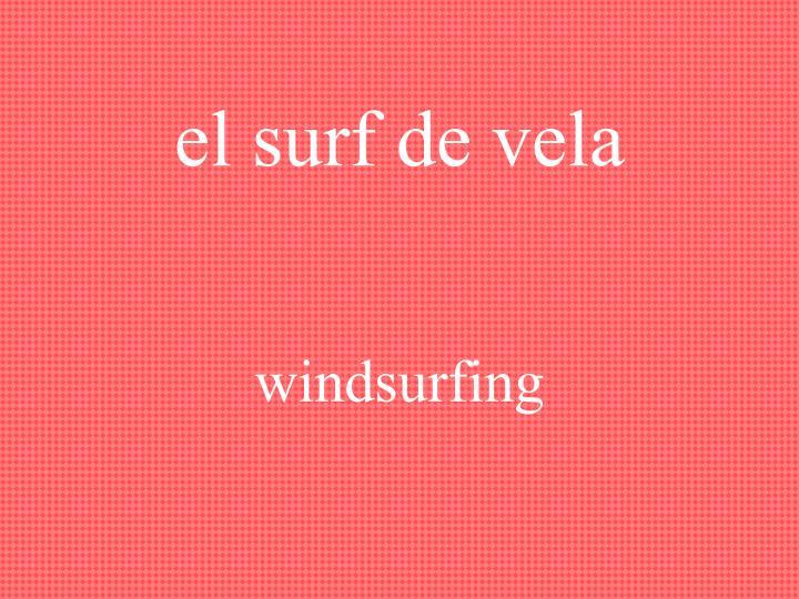 el surf de vela
