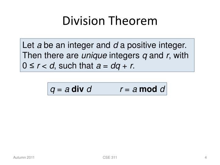 Division Theorem