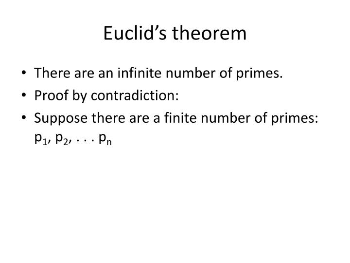 Euclid's theorem