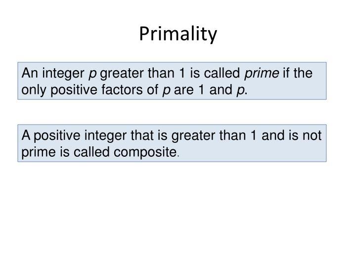 Primality