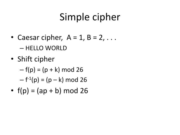 Simple cipher