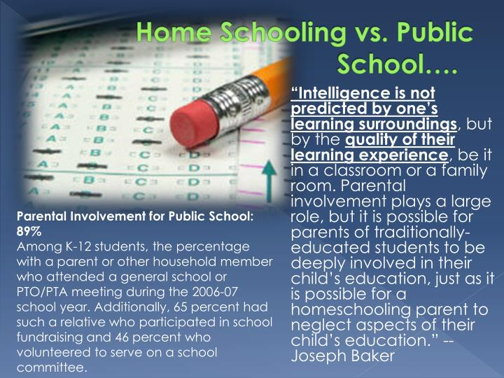 Home schooling vs public school