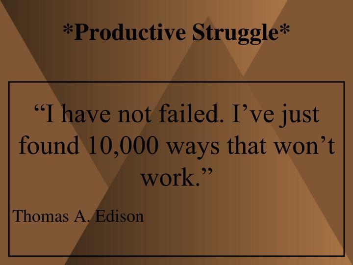 *Productive Struggle*