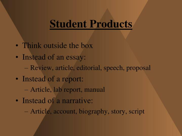 Student Products