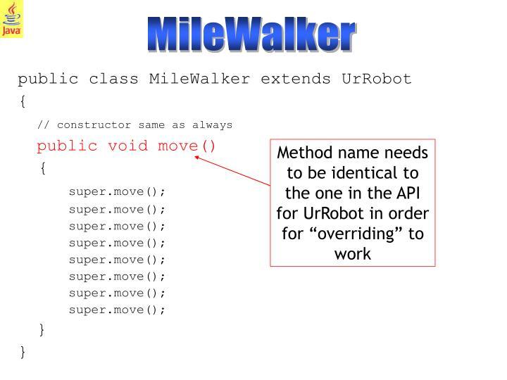 MileWalker