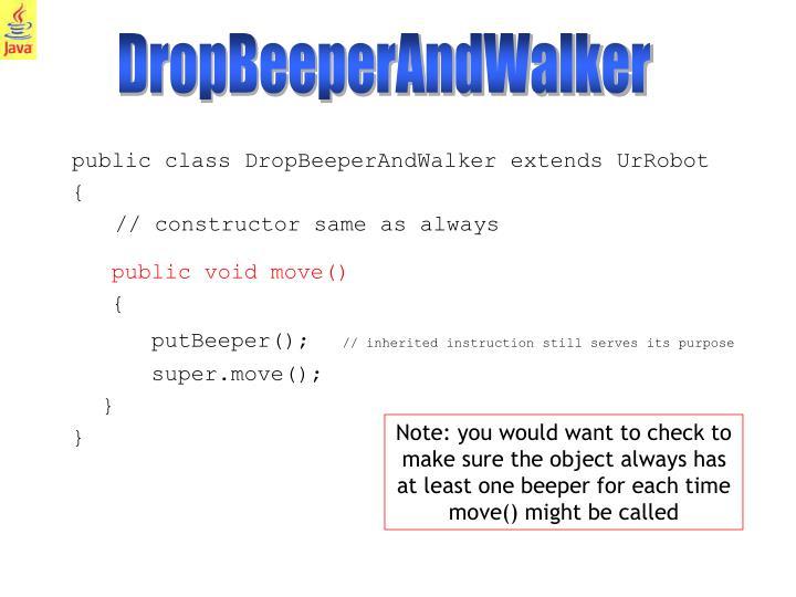 DropBeeperAndWalker