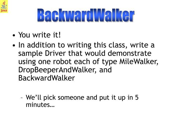 BackwardWalker