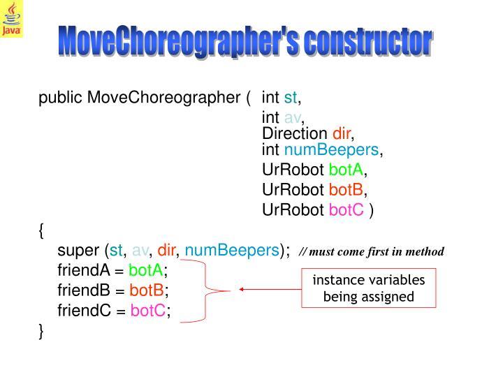 MoveChoreographer's constructor