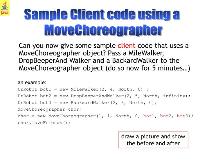 Sample Client code using a