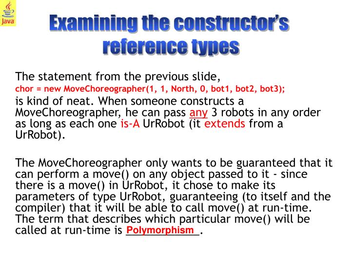 Examining the constructor's