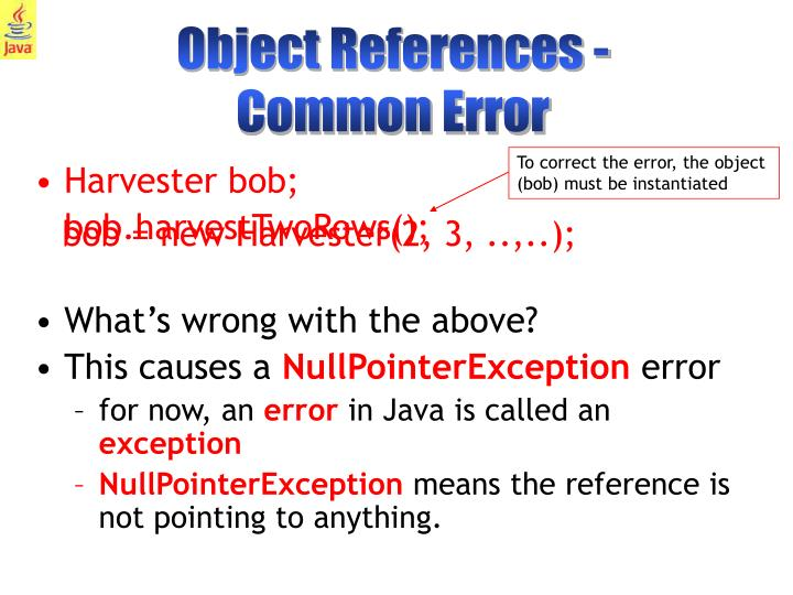 Object References -