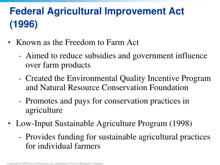 Federal Agricultural Improvement Act (1996)