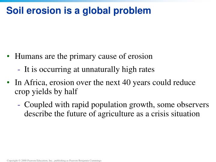 Soil erosion is a global problem