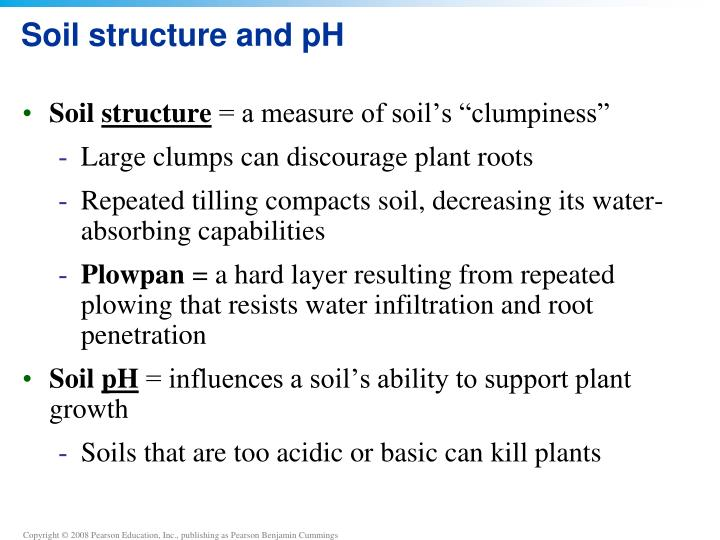 Soil structure and pH