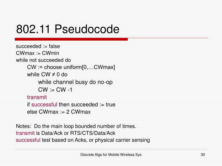 802.11 Pseudocode