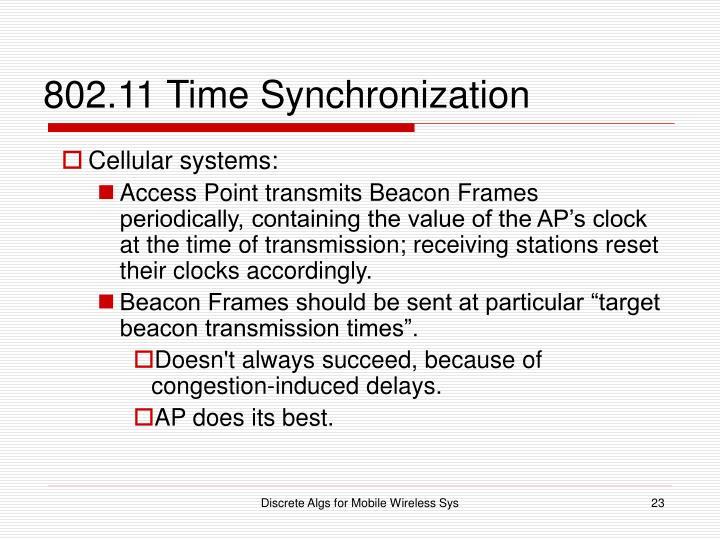 802.11 Time Synchronization
