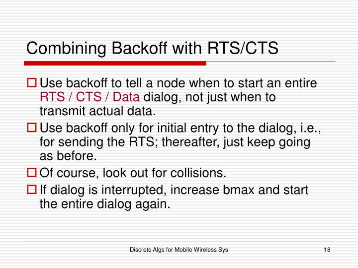 Combining Backoff with RTS/CTS