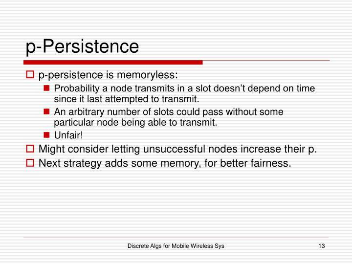 p-Persistence