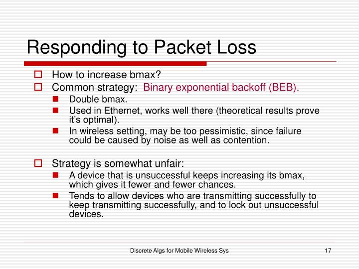 Responding to Packet Loss