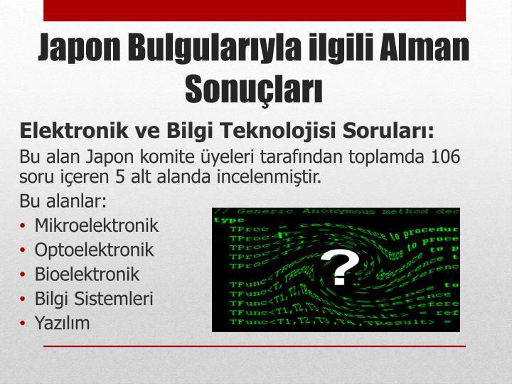 Elektronik ve Bilgi Teknolojisi Soruları: