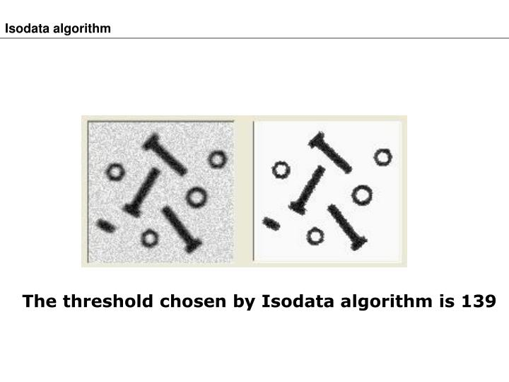 Isodata algorithm