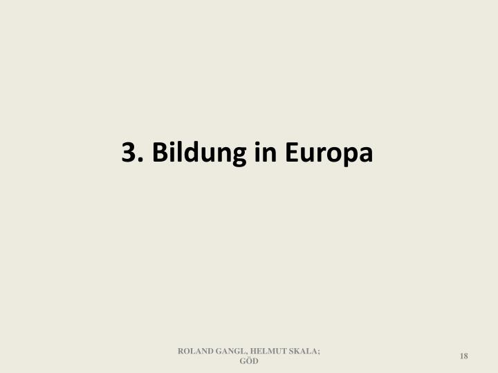 3. Bildung in Europa