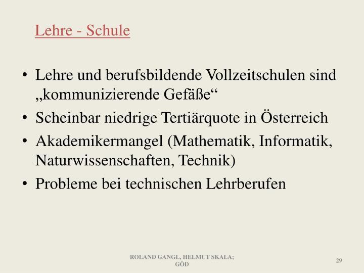 Lehre - Schule