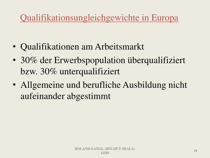 Qualifikationsungleichgewichte in Europa