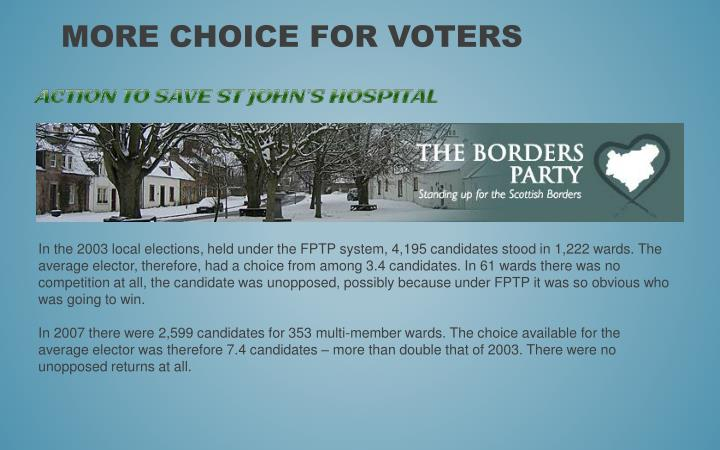 More choice for voters