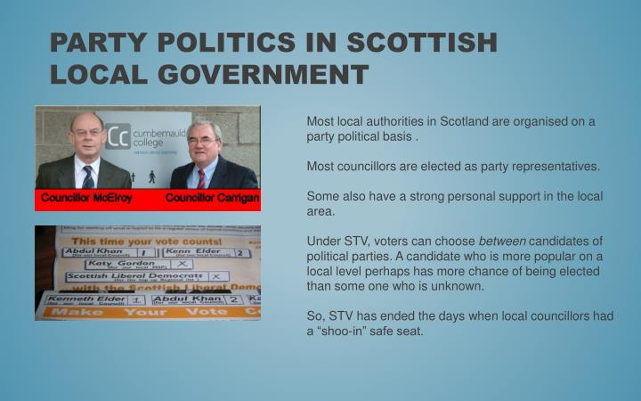 Party politics in Scottish local government