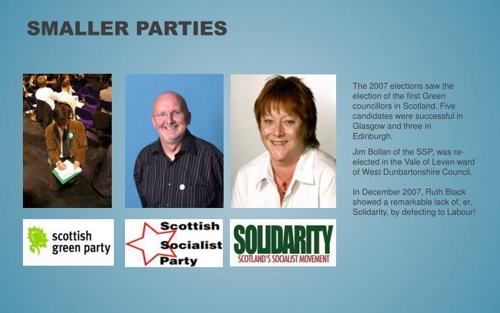 Smaller parties