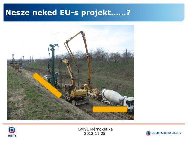 Nesze neked EU-s projekt……?