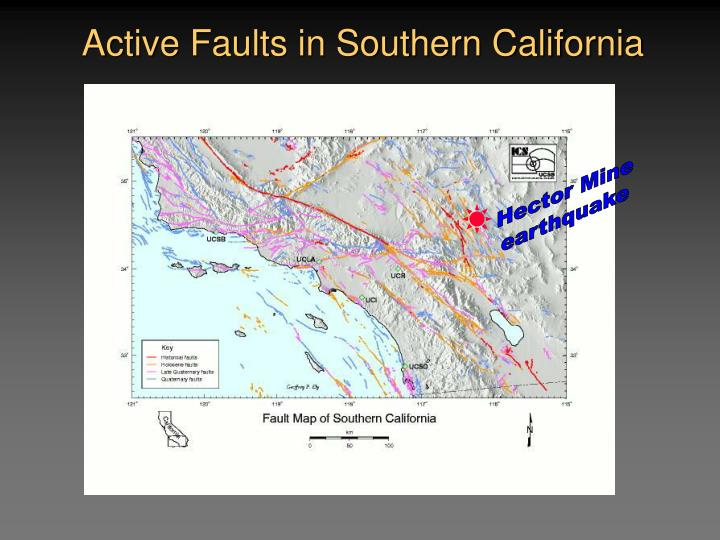 Active Faults in Southern California