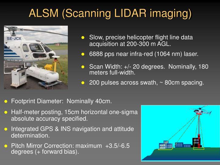 ALSM (Scanning LIDAR imaging)