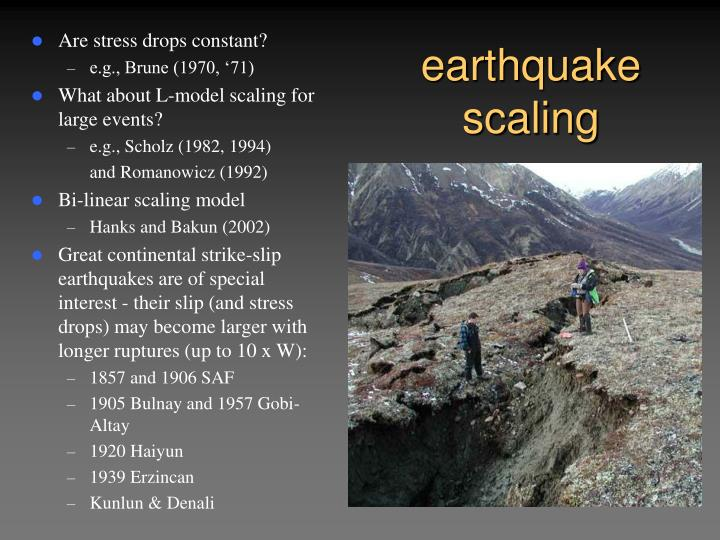 Earthquake scaling