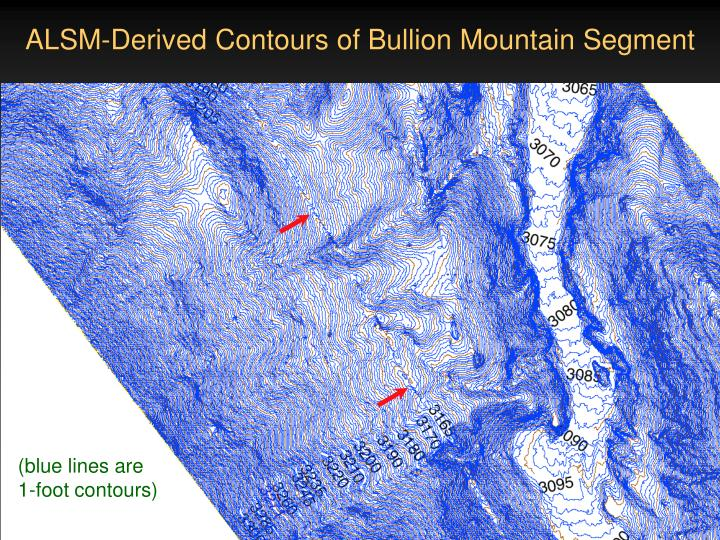ALSM-Derived Contours of Bullion Mountain Segment