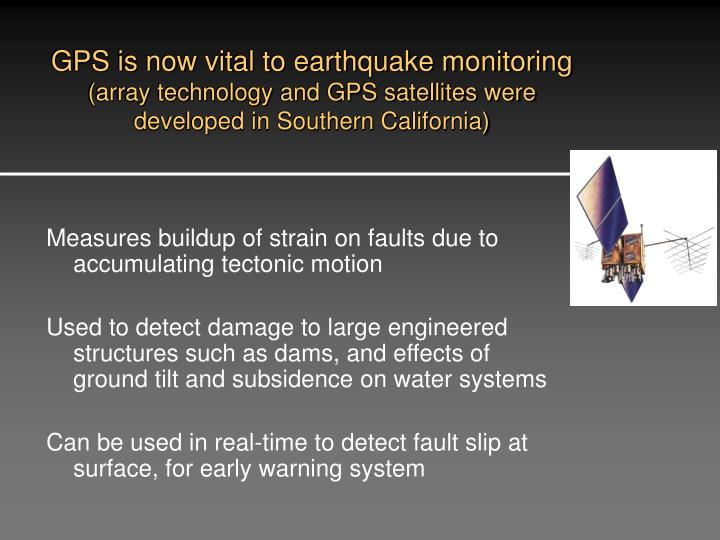GPS is now vital to earthquake monitoring