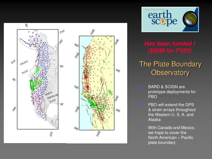 The Plate Boundary Observatory