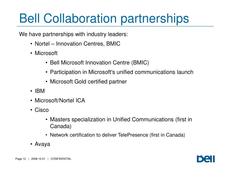 Bell Collaboration partnerships