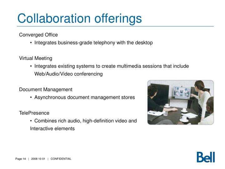 Collaboration offerings