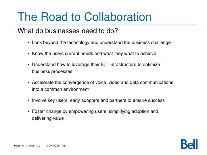 The Road to Collaboration