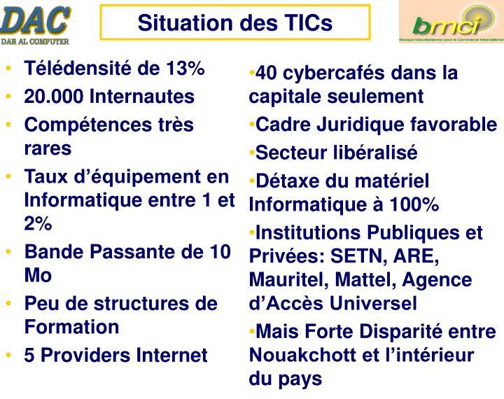 Situation des TICs